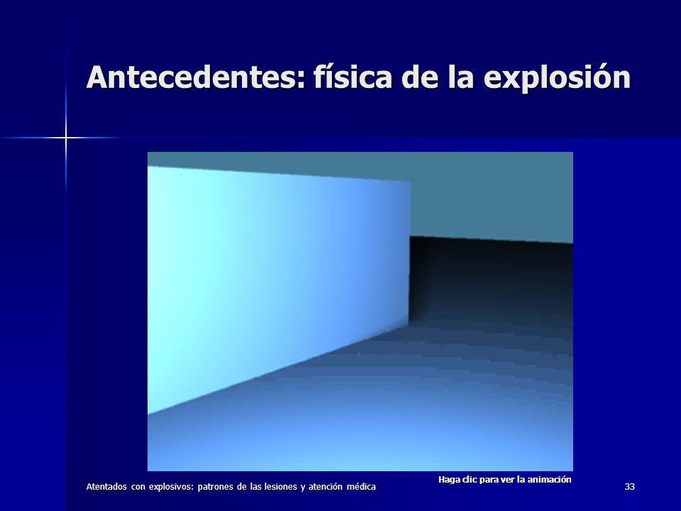 Atentados con explosivos: patrones de las lesiones y atención médica33 Antecedentes: física de la explosión Haga clic para ver la animación