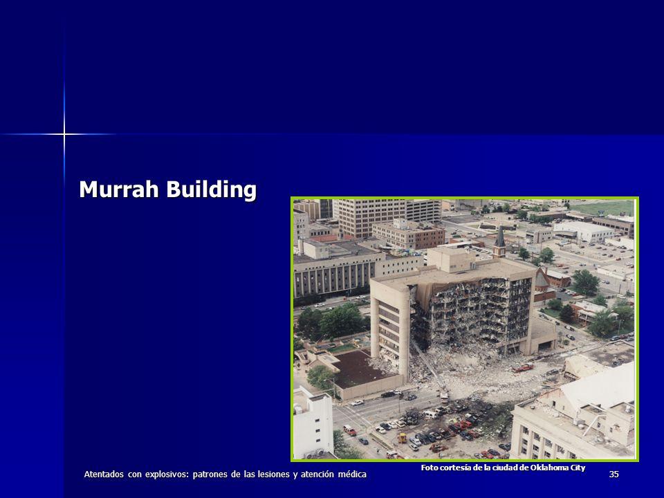 Atentados con explosivos: patrones de las lesiones y atención médica35 Murrah Building Foto cortesía de la ciudad de Oklahoma City