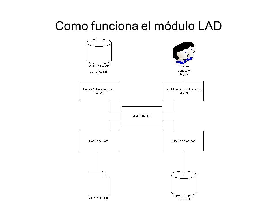 Como funciona el módulo LAD