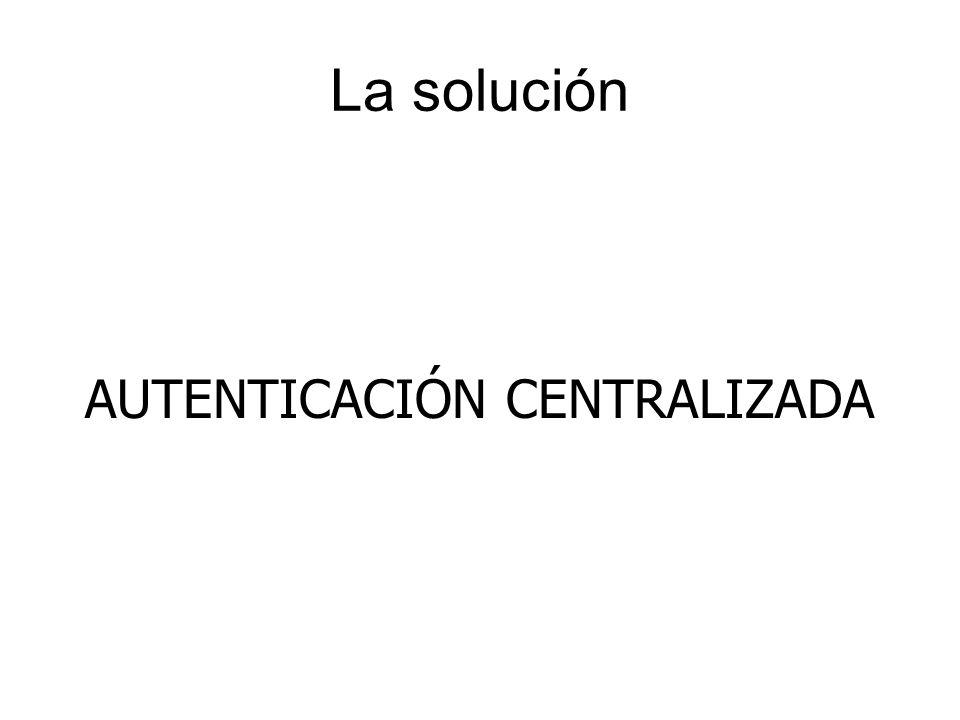 La solución AUTENTICACIÓN CENTRALIZADA