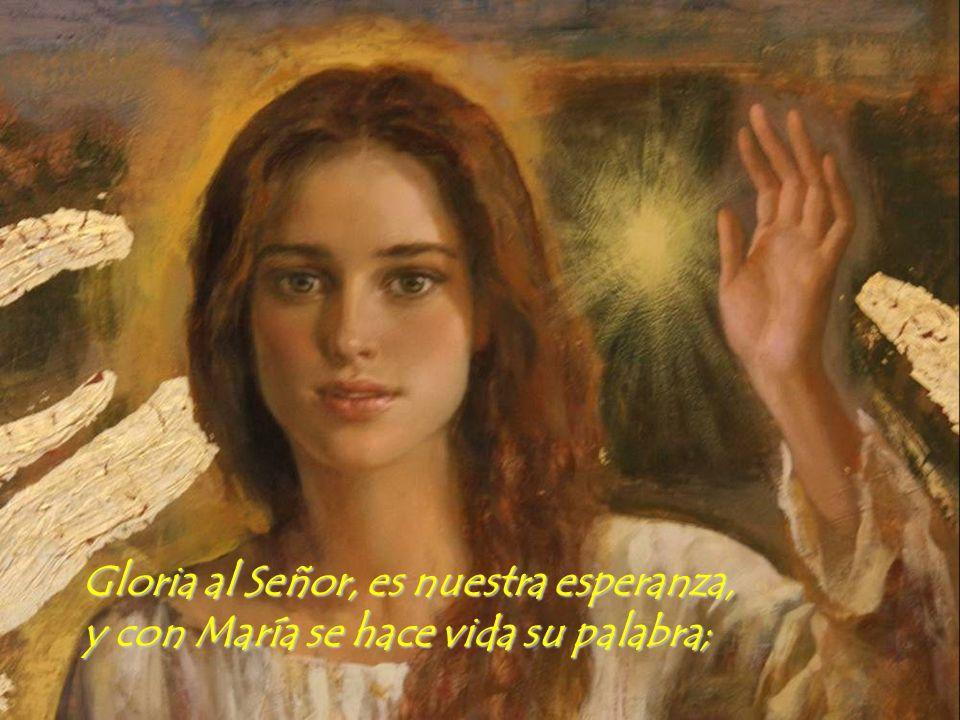 Se hacen fuertes nuestras manos con la Madre del Señor.