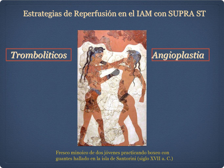 Estrategias de Reperfusión en el IAM con SUPRA ST Fresco minoico de dos jóvenes practicando boxeo con guantes hallado en la isla de Santorini (siglo XVII a.