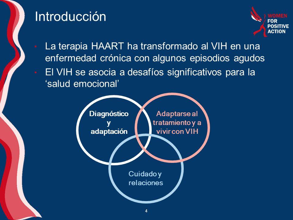 4 Introducción La terapia HAART ha transformado al VIH en una enfermedad crónica con algunos episodios agudos El VIH se asocia a desafíos significativ