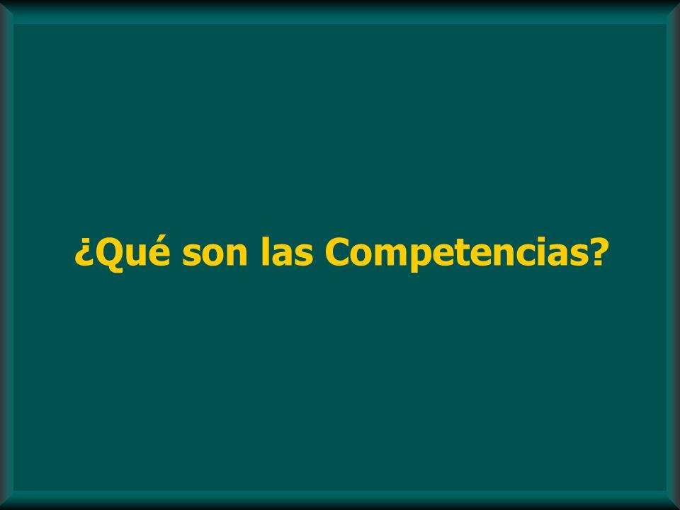 ¿Qué son las Competencias?