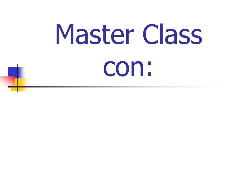 Master Class con: