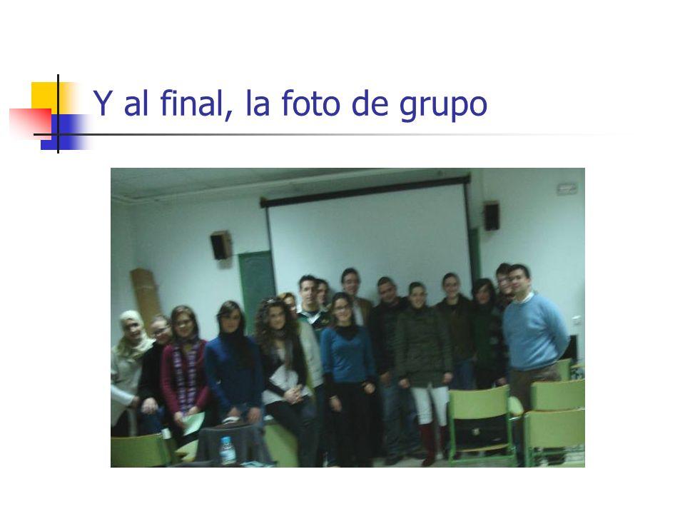 Y al final, la foto de grupo