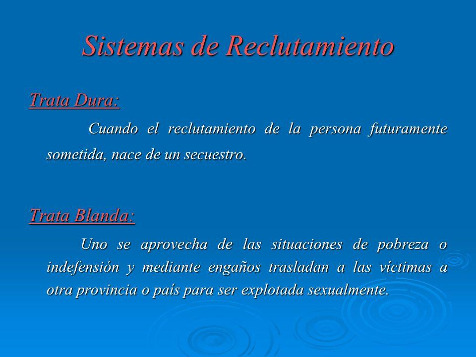 Sistemas de Reclutamiento Trata Dura: Cuando el reclutamiento de la persona futuramente sometida, nace de un secuestro. Cuando el reclutamiento de la