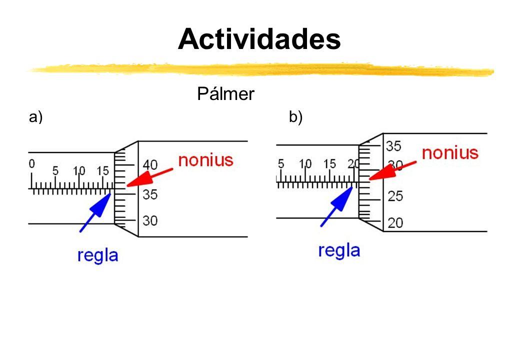 Actividades Pálmer a)b)