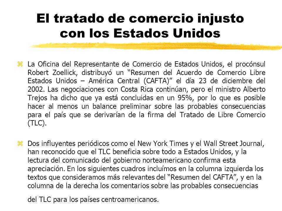 El tratado de comercio injusto con los Estados Unidos FIT-ICE Costa Rica