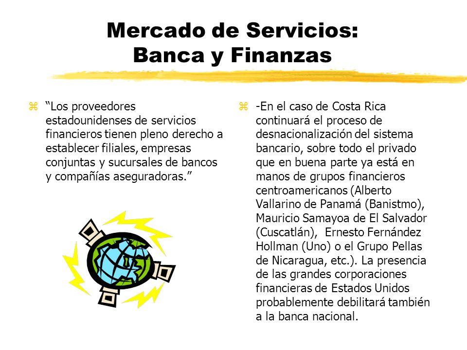 Mercado de Servicios: Telecomunicaciones z-Se beneficia a las grandes transnacionales.