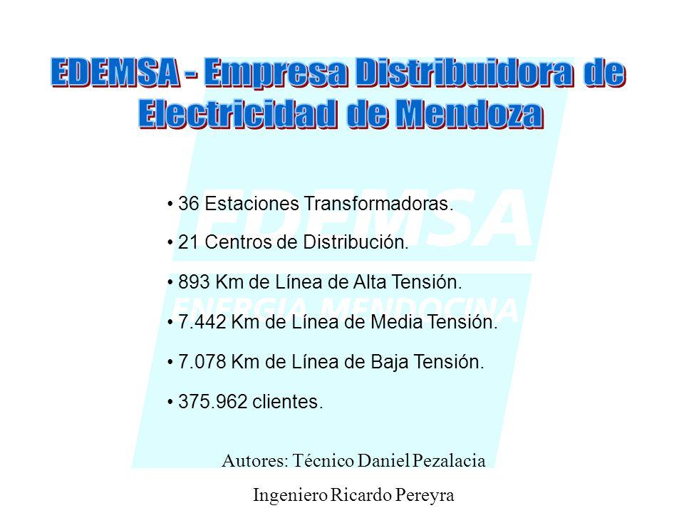 36 Estaciones Transformadoras.21 Centros de Distribución.