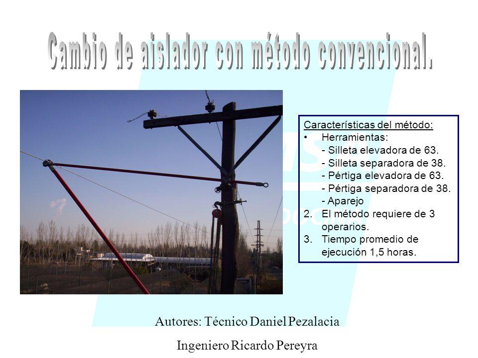 Características del método: Herramientas: - Silleta elevadora de 63.