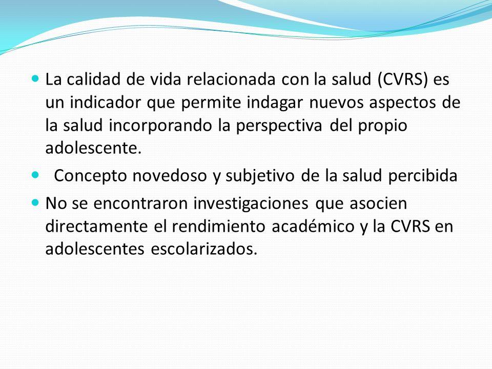 OBJETIVO GENERAL Estudiar la asociación entre el rendimiento académico promedio anual, la estructura familiar y la calidad de vida relacionada con la salud en adolescentes que asisten a escuelas públicas de la ciudad de Córdoba en el año 2010.