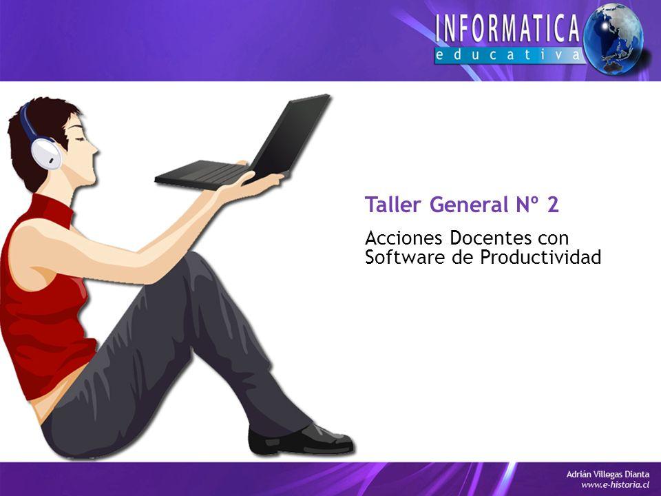 Taller General Nº 2 Acciones Docentes con Software de Productividad