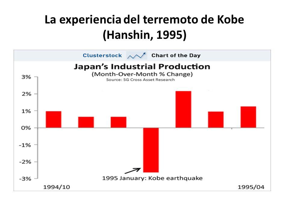 La experiencia del terremoto de Kobe (Hanshin, 1995)