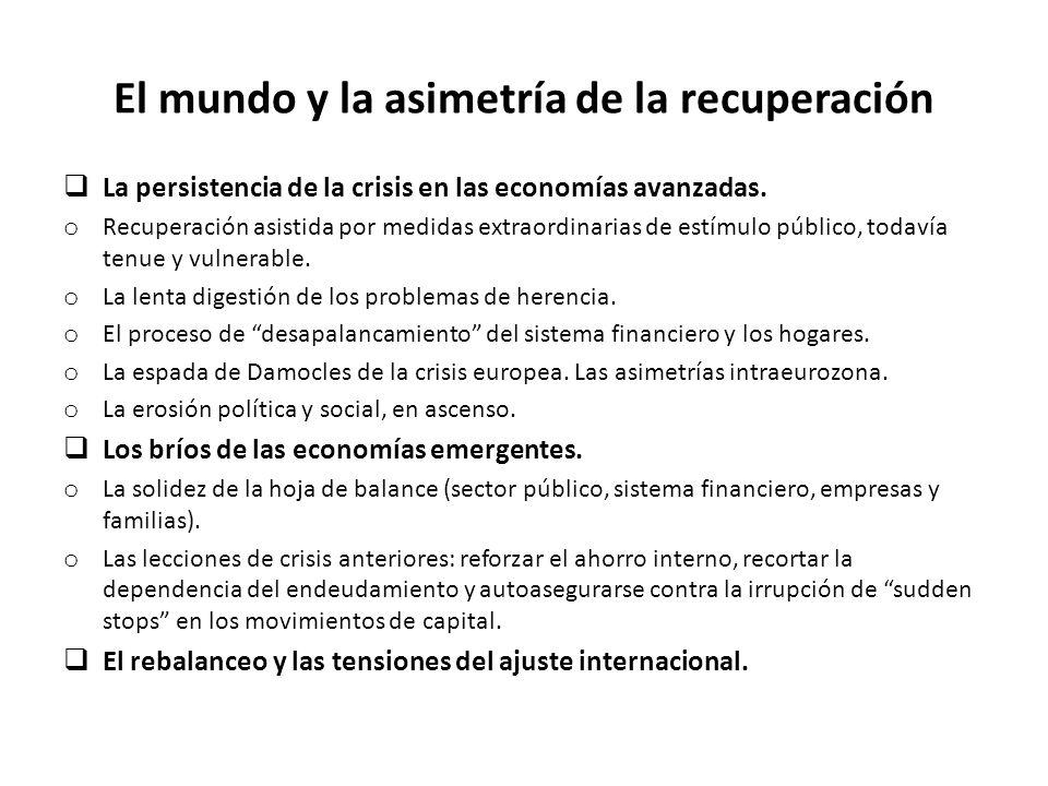 El mundo y la asimetría de la recuperación La persistencia de la crisis en las economías avanzadas.