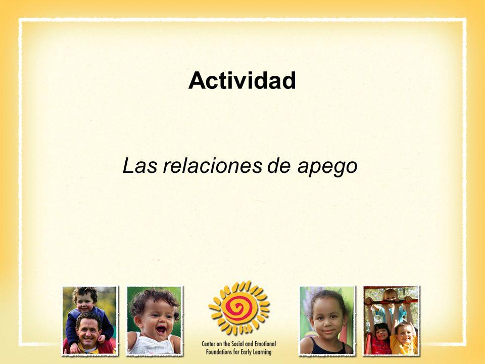 Actividad Las relaciones de apego