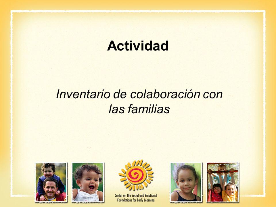 Actividad Inventario de colaboración con las familias