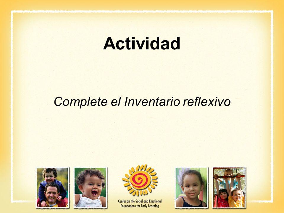 Actividad Complete el Inventario reflexivo
