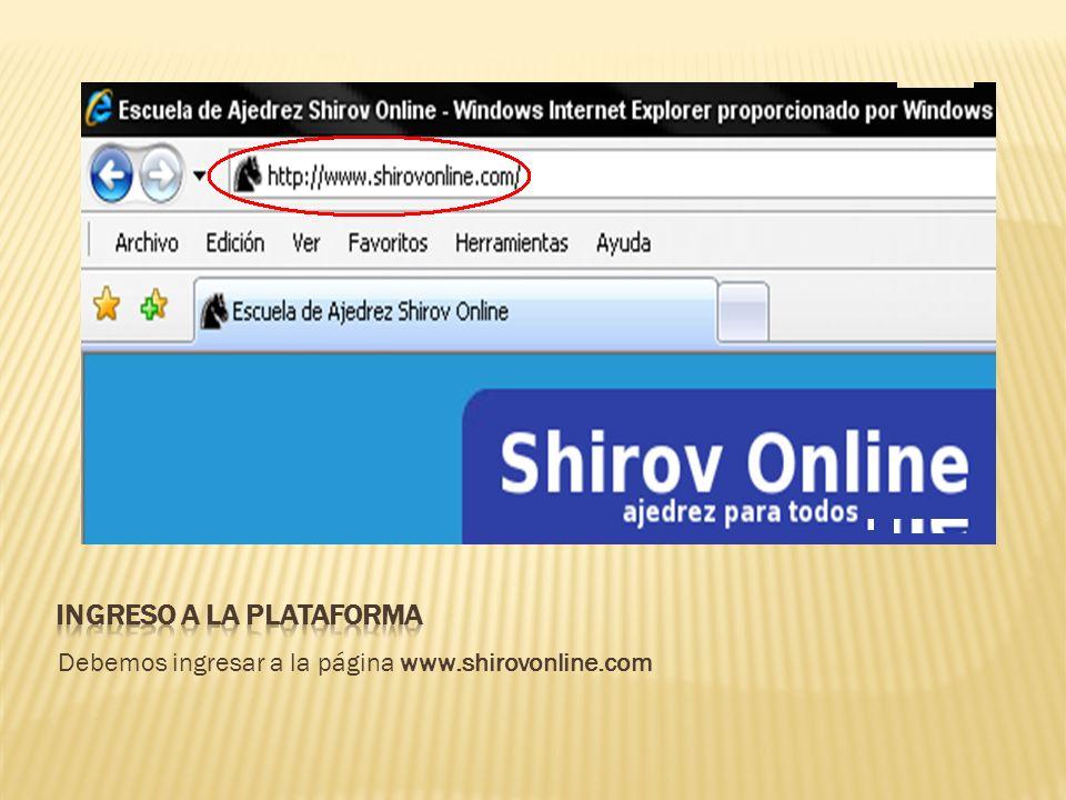 Debemos ingresar a la página www.shirovonline.com