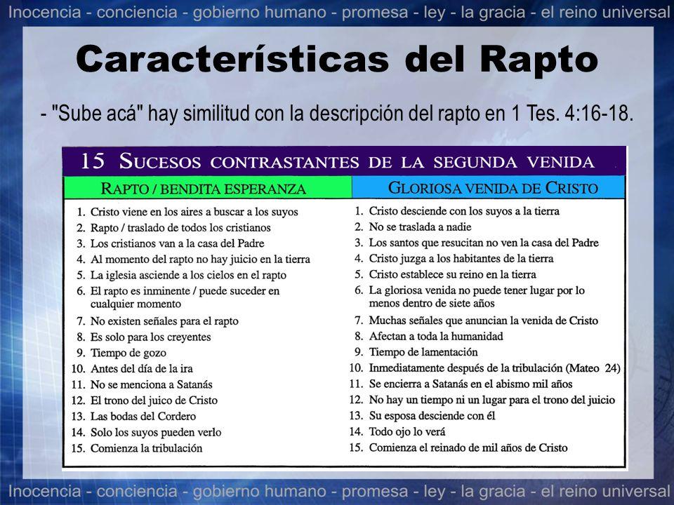 Características del Rapto -