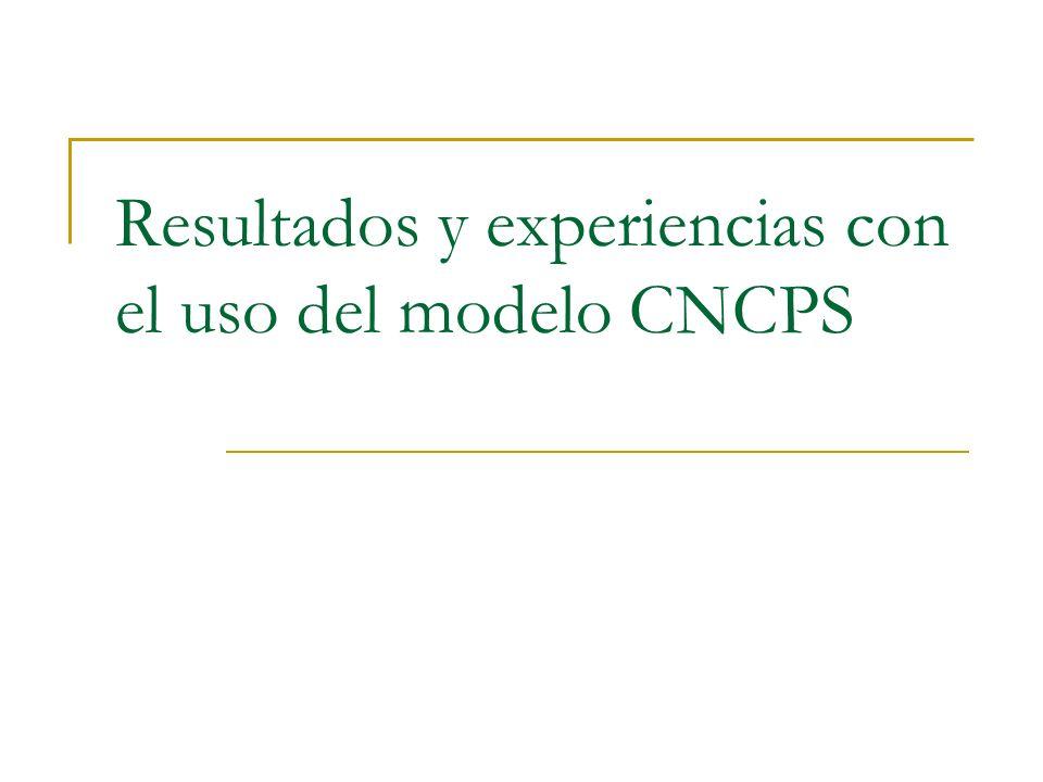 Resultados y experiencias con el uso del modelo CNCPS