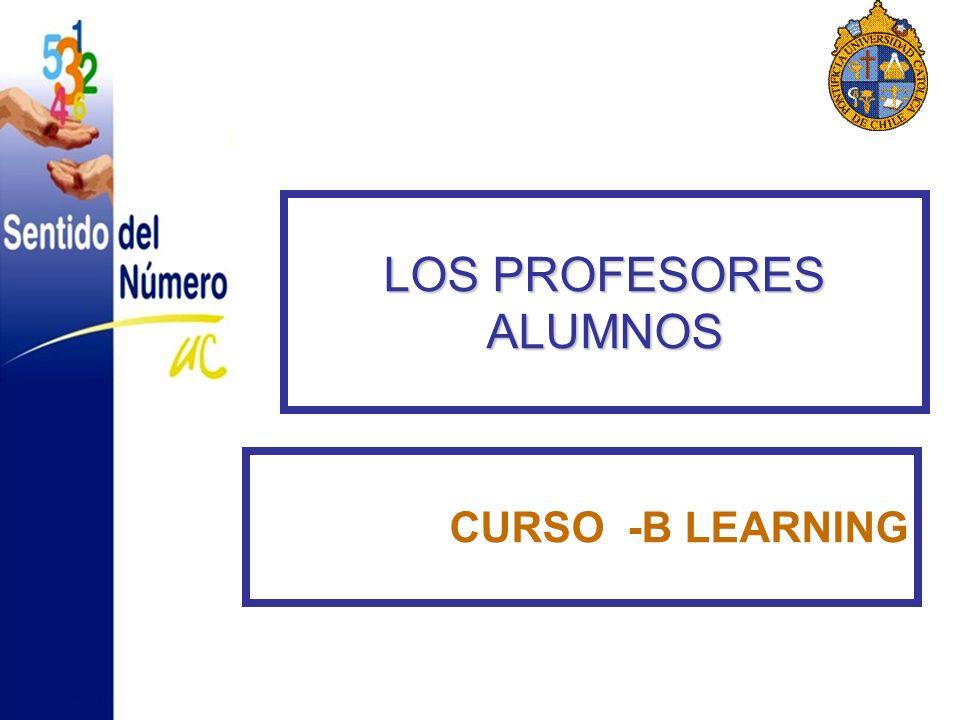 LOS PROFESORES ALUMNOS CURSO -B LEARNING