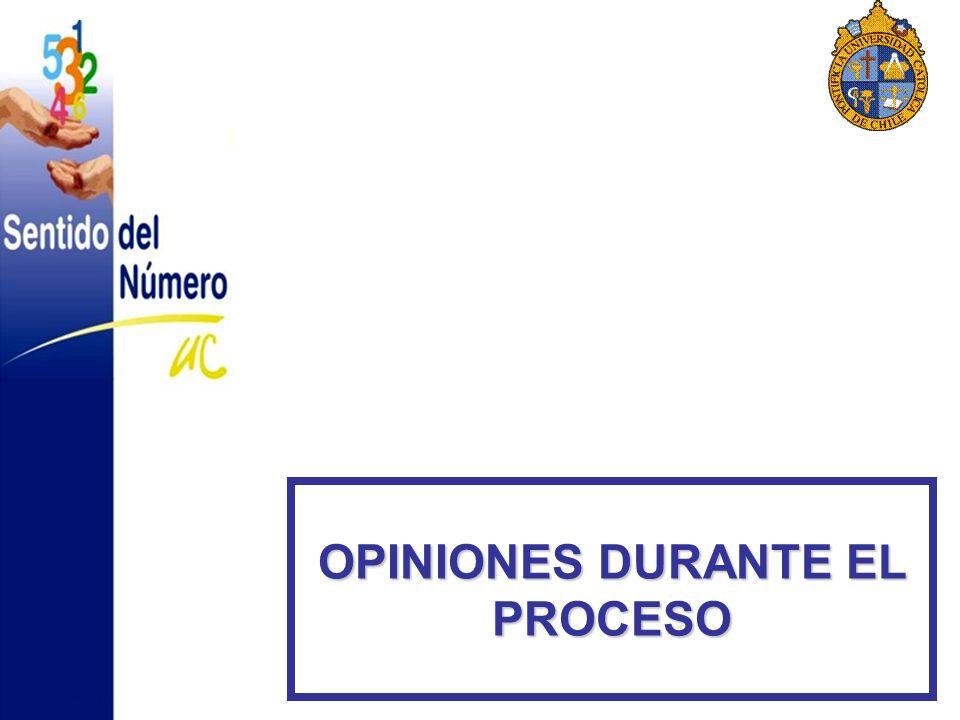 OPINIONES DURANTE EL PROCESO