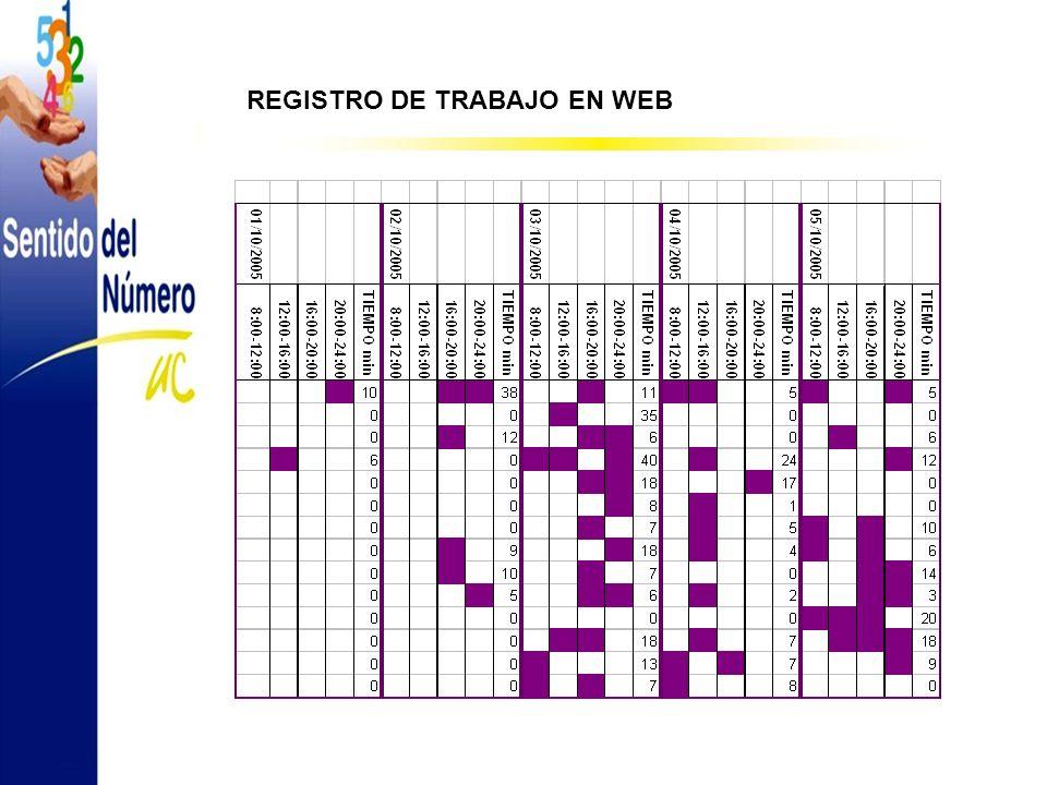 REGISTRO DE TRABAJO EN WEB