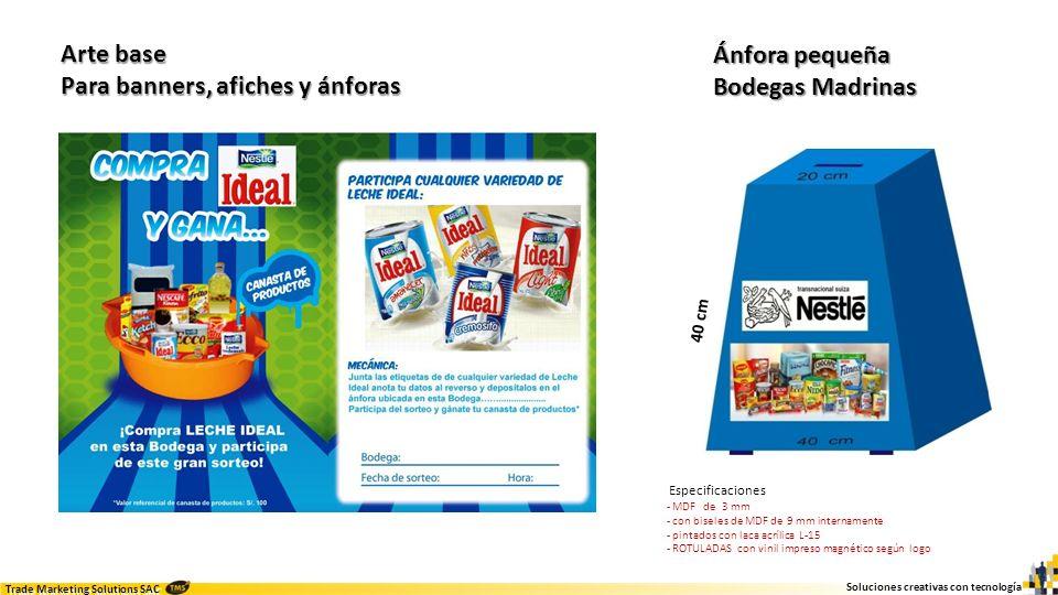 Soluciones creativas con tecnología Trade Marketing Solutions SAC Sorteo Bodegas Top Madrinas Implementación