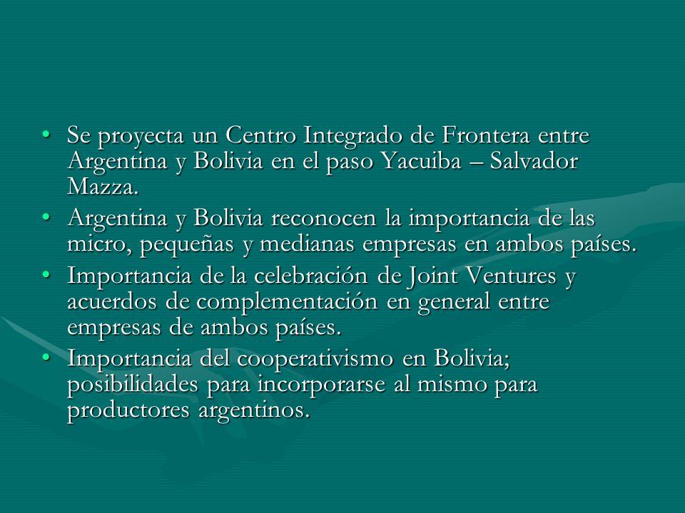 Se proyecta un Centro Integrado de Frontera entre Argentina y Bolivia en el paso Yacuiba – Salvador Mazza.Se proyecta un Centro Integrado de Frontera entre Argentina y Bolivia en el paso Yacuiba – Salvador Mazza.