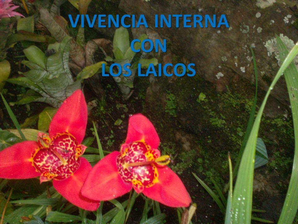 VIVENCIA INTERNA CON LOS LAICOS