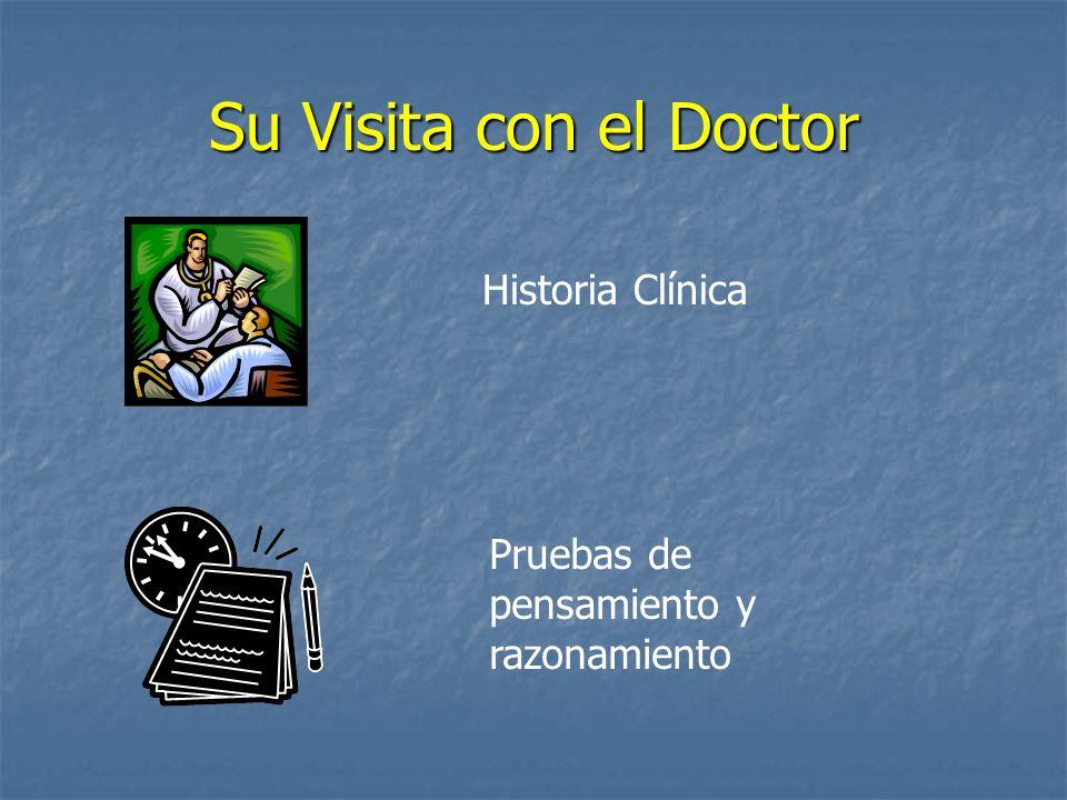 Su Visita con el Doctor Historia Clínica Pruebas de pensamiento y razonamiento