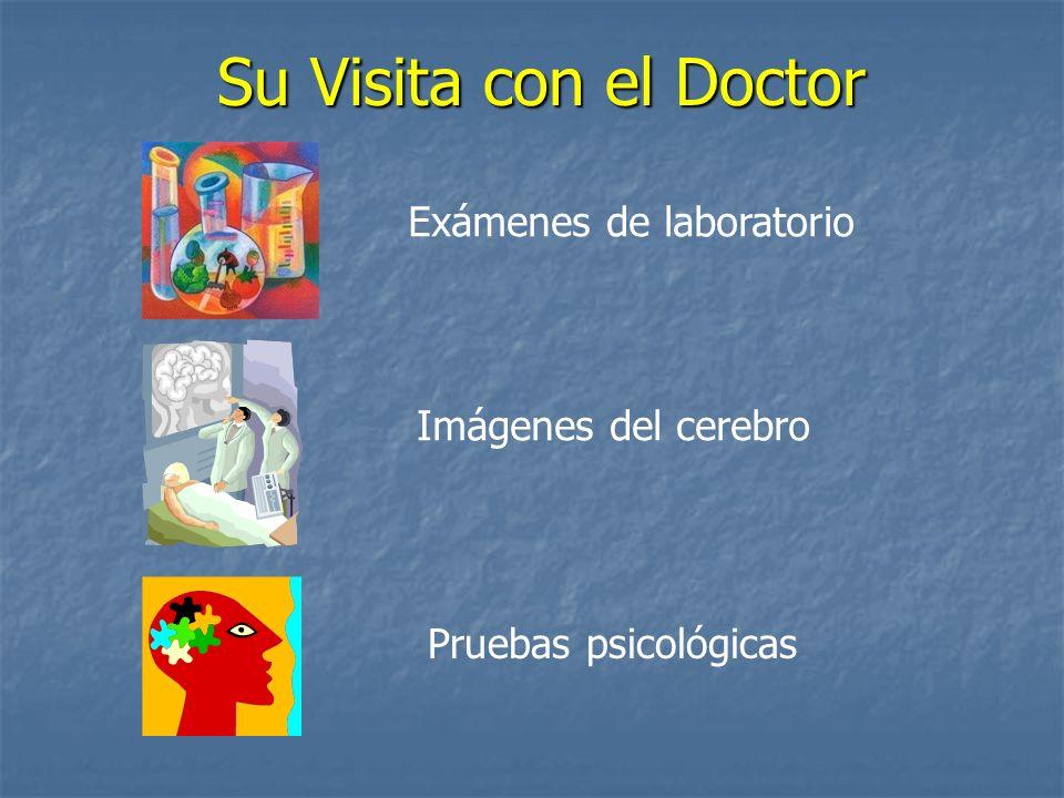 Su Visita con el Doctor Exámenes de laboratorio Imágenes del cerebro Pruebas psicológicas