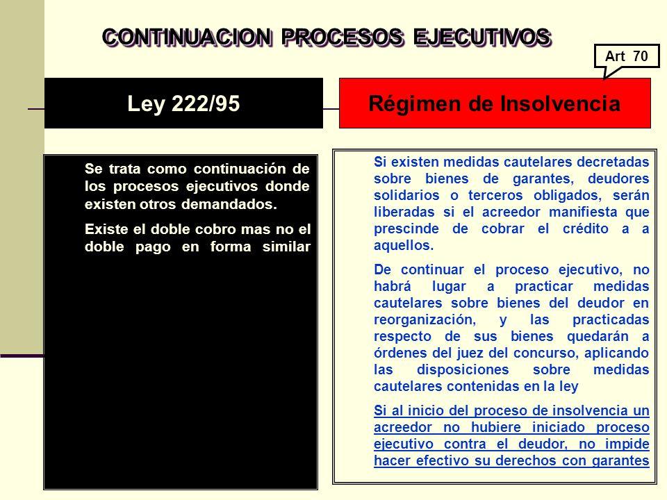 CONTINUACION PROCESOS EJECUTIVOS CONTINUACION PROCESOS EJECUTIVOS Se trata como continuación de los procesos ejecutivos donde existen otros demandados.