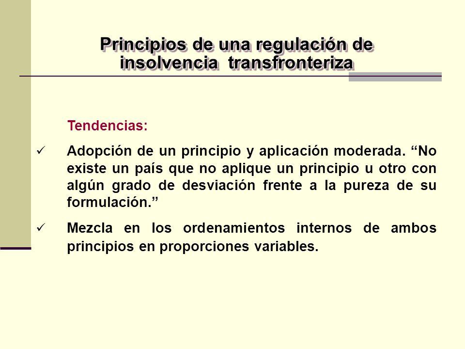 Tendencias: Adopción de un principio y aplicación moderada.