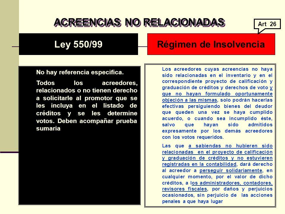 ACREENCIAS NO RELACIONADAS ACREENCIAS NO RELACIONADAS No hay referencia especifica.