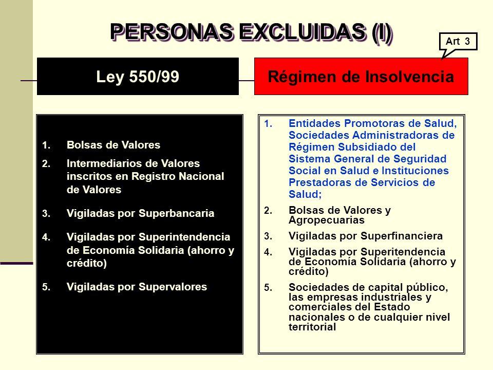 PERSONAS EXCLUIDAS (II) 6.