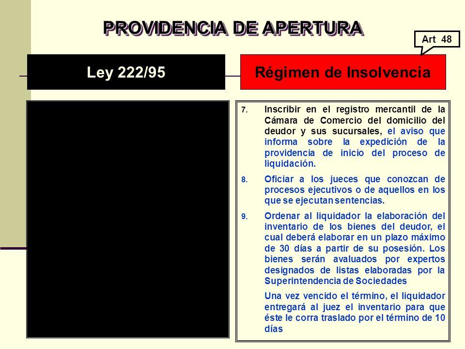 PROVIDENCIA DE APERTURA PROVIDENCIA DE APERTURA 7.