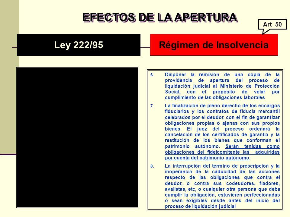 EFECTOS DE LA APERTURA EFECTOS DE LA APERTURA 6.
