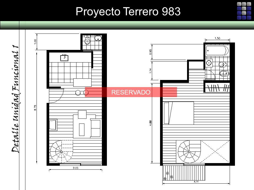 Proyecto Terrero 983 Detalle Unidad Funcional 1 RESERVADO