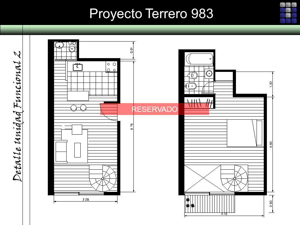 Proyecto Terrero 983 Detalle Unidad Funcional 2 RESERVADO