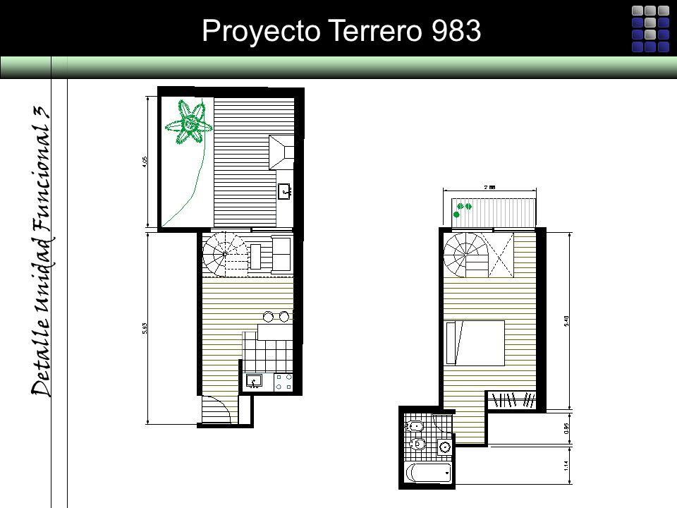 Proyecto Terrero 983 Detalle Unidad Funcional 3