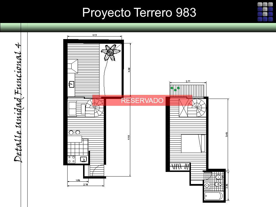 Proyecto Terrero 983 Detalle Unidad Funcional 4 RESERVADO