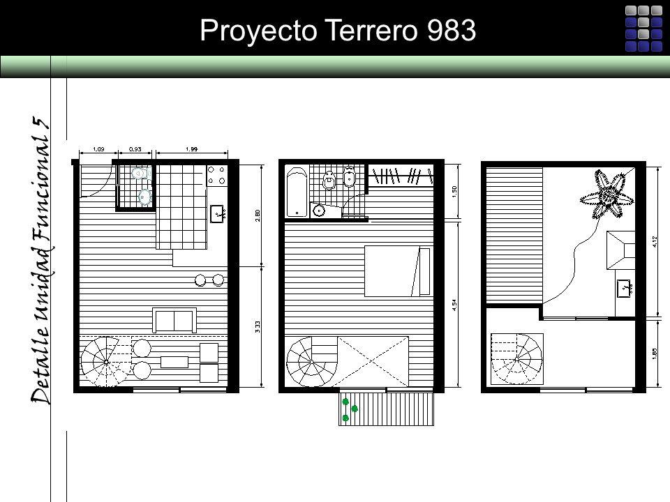 Proyecto Terrero 983 Detalle Unidad Funcional 5