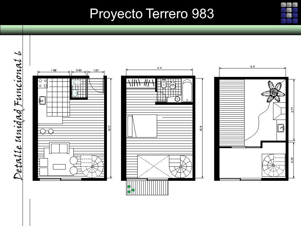 Proyecto Terrero 983 Detalle Unidad Funcional 6