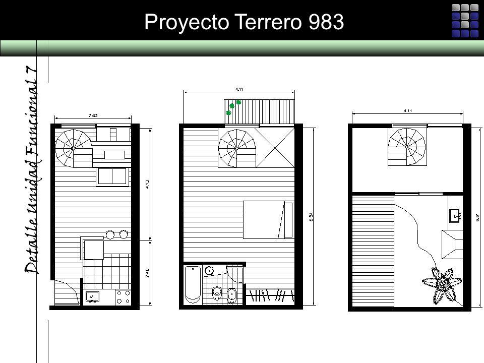 Proyecto Terrero 983 Detalle Unidad Funcional 7