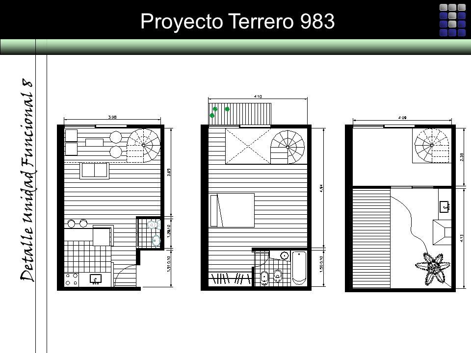 Proyecto Terrero 983 Detalle Unidad Funcional 8