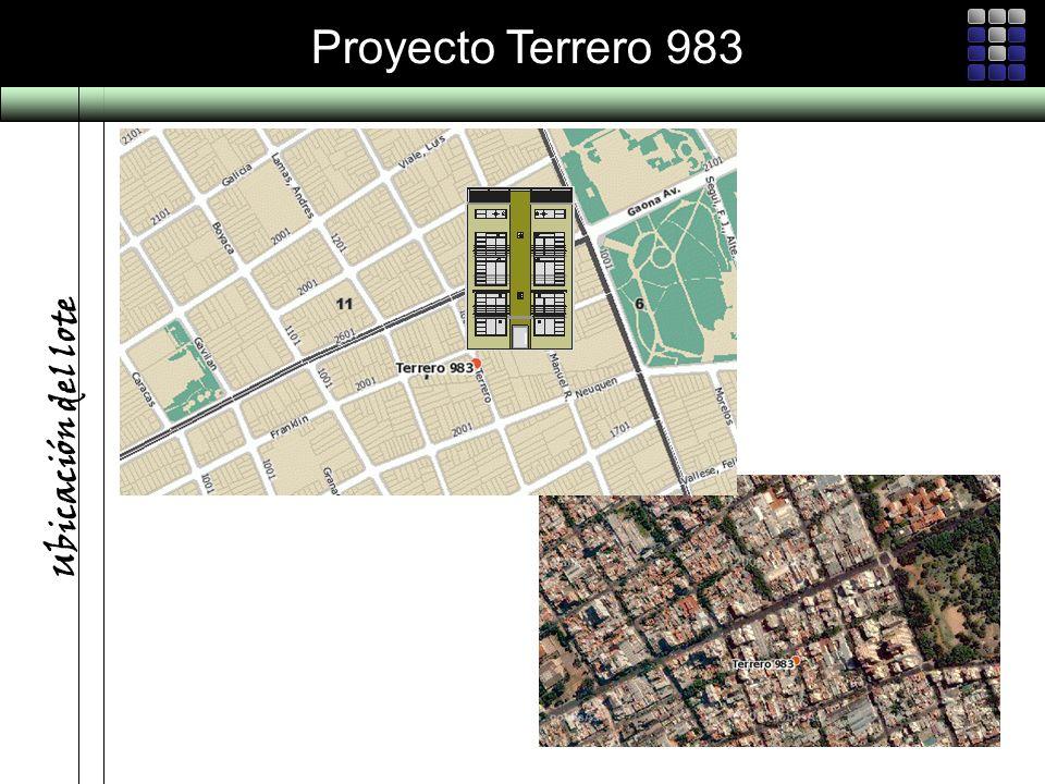 Proyecto Terrero 983 Ubicación del lote