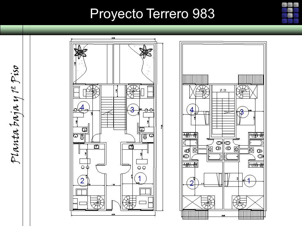 Proyecto Terrero 983 Planta baja y 1º Piso 1 4 3 2 1 4 3 2